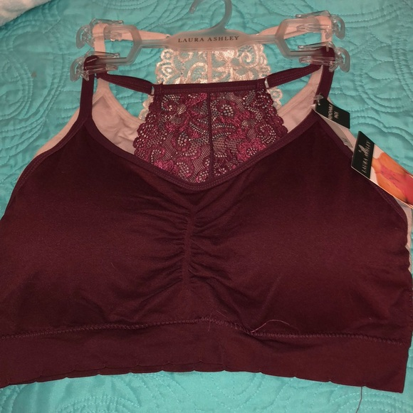 492a376e51 NWT LAURA ASHLEY plus size lace racerback bras NWT